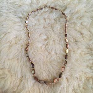 Vintage Brown Bead Necklace